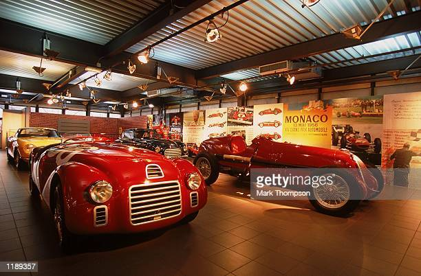 General view from inside the Ferrari museum during the Ferrari F2002 Launch held at the Fiorano Ferrari Testing Facility in Maranello Italy Mandatory...
