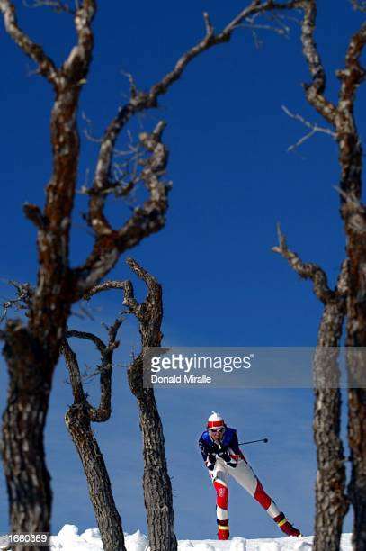 General view from the women's 4 x 5km cross country relay during the Salt Lake City Winter Olympic Games at Soldier's Hollow in Heber City, Utah....