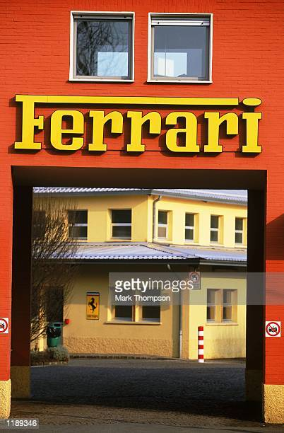 General view taken during the Ferrari F2002 Launch held at the Fiorano Ferrari Testing Facility in Maranello Italy Mandatory Credit Mark Thompson...