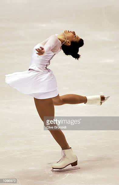 Jennifer Robinson of Canada competes in the ladies free program during the Salt Lake City Winter Olympic Games at the Salt Lake Ice Center in Salt...