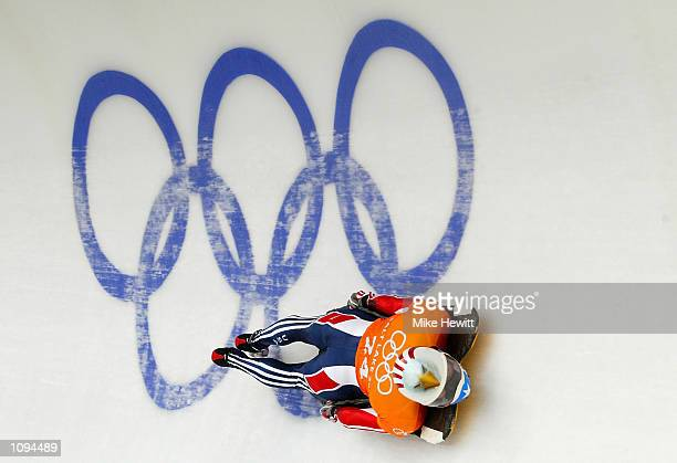Jim Shea of the USA practices in the men's skeleton during the Salt Lake City Winter Olympic Games at the Utah Olympic Park in Park City, Utah....