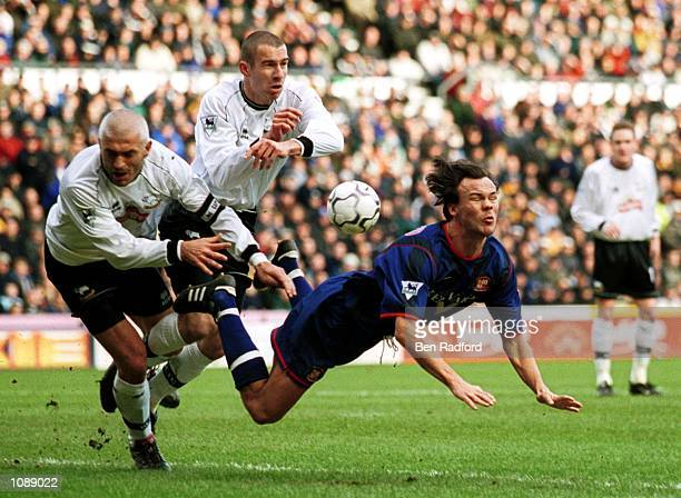 Joachim Bjorklund of Sunderland in action during the FA Barclaycard Premiership match between Derby County and Sunderland at Pride Park, Derby....