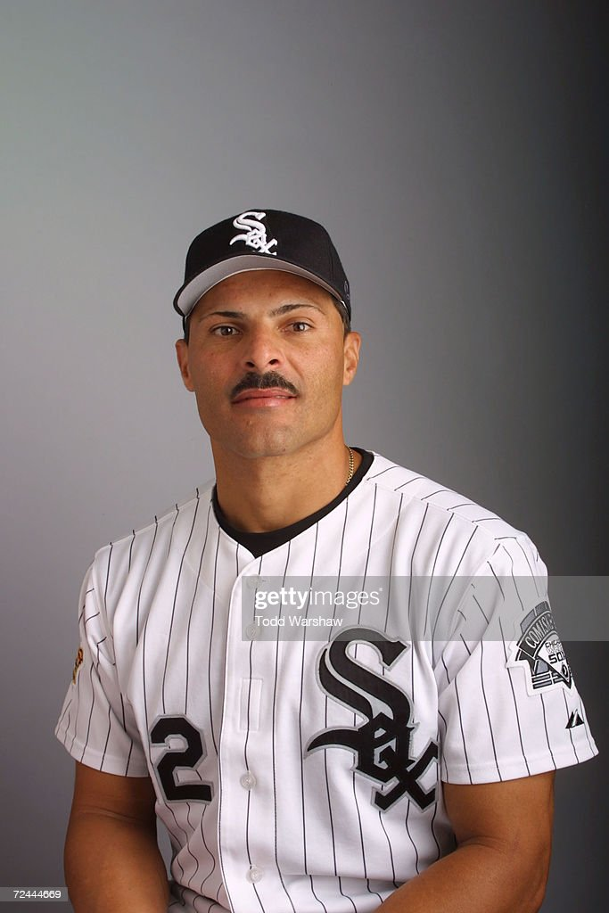 Jose Valentin Of The Chicago White Sox Poses During Media Day At The Kino  Sports Complex