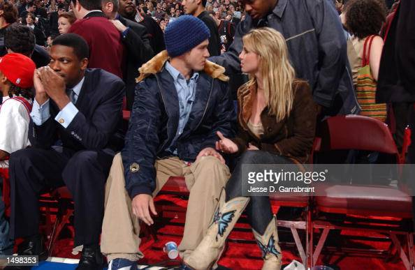 Justin Timberlake And Britney Spears Chat Courtside Before The Start News Photo Getty Images