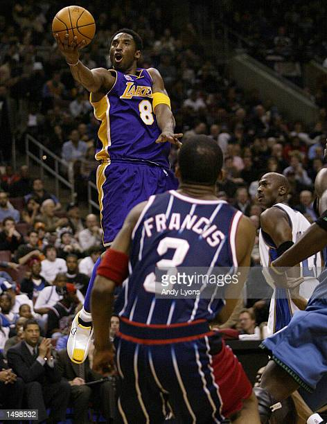 Kobe Bryant of the Los Angeles Lakers and the NBA Western Conference team shoots the ball during the NBA AllStar game at the First Union Center in...