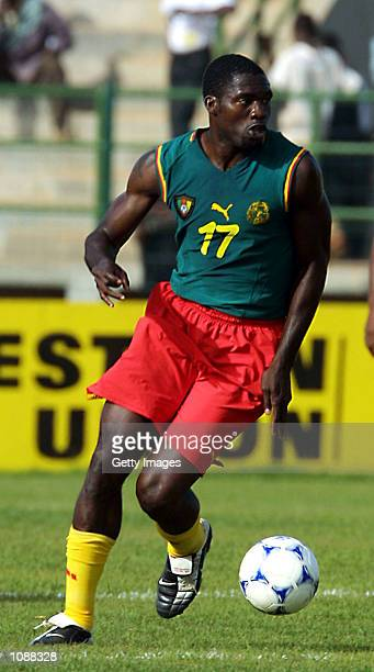 Marc Vivien Foe of Cameroon in action during the quarter final of the African Cup of Nations match between Cameroon and Egypt, played at the Amary...