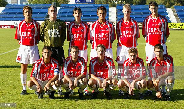Melbourne Knights Team prior to the National Youth League Southern Division Grand Final between Melbourne Knights Youth and South Melbourne Institute...
