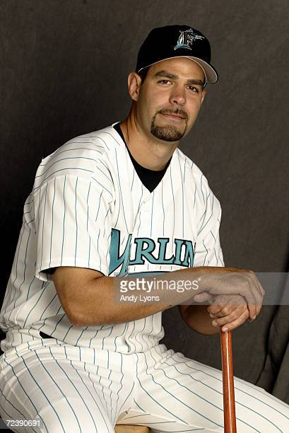 Mike Lowell of the Florida Marlins is pictured during the Marlins media day at at their spring training facility in Viera Florida DIGITAL