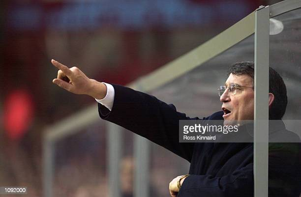 Newly appointed Aston Villa manager Graham Taylor during the FA Barclaycard Premiership match against Chelsea played at Villa Park, in Birmingham,...