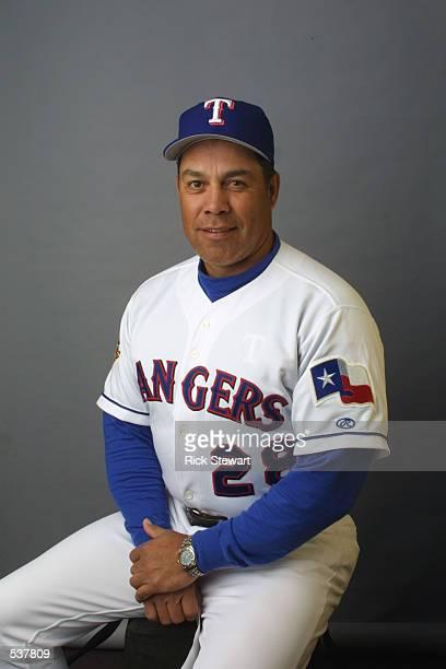 Oscar Acosta of the Texas Rangers poses during media day at Charlotte County Stadium in Port Charlotte Florida DIGITAL IMAGE Mandatory Credit Rick...