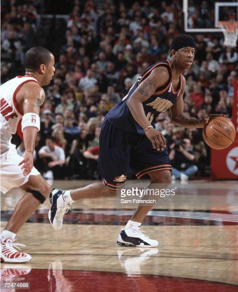 Point Guard Kenny Satterfield Of The Denver Nuggets Drives