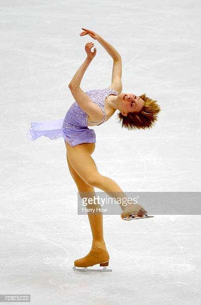Sarah Hughes of USA during the Lady Free Skate during the Salt Lake City Winter Olympic Games at the delta Center in Salt Lake City Utah Hughes would...