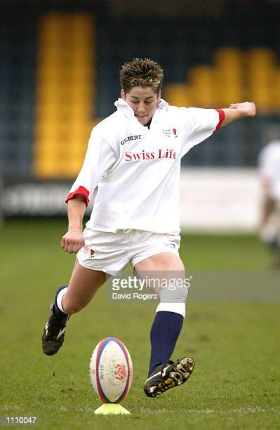 Shelley Rae of England during the Women's Six Nations Championship match between England and Ireland played at the Sixways Stadium in Worcester...