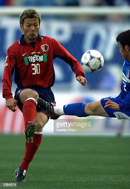 Takayuki Suzuki of Kashima Antlers in action at the match between Kashima Antlers and Suwon Samsung during the Asian Club Football East Region...