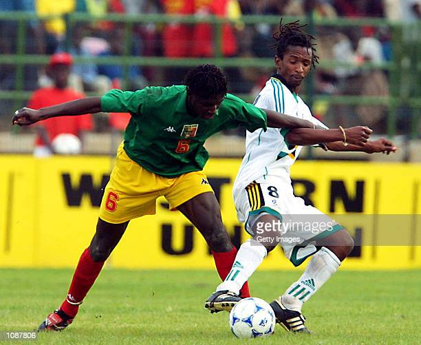 Thabo Mngomeni of South Africa and Mahamadou Diarra of Mali in action during the quarter final of the African Cup of Nations between Mali and South...