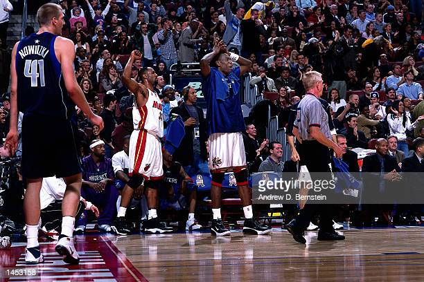 The Eastern Conference bench celebrates during the 2002 NBA All Star Game at the First Union Center in Philadelphia Pennsylvania NOTE TO USER User...