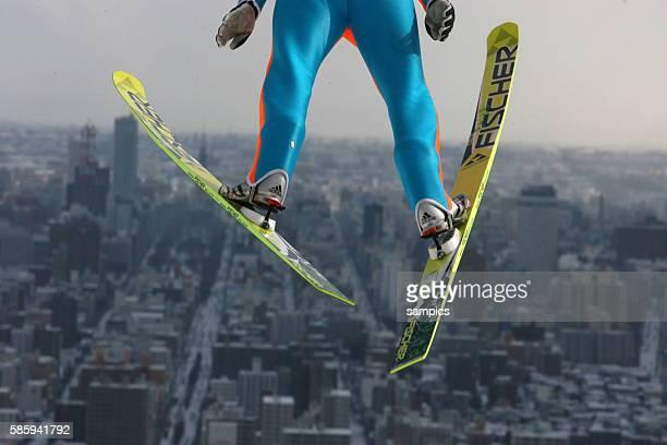 Feb 2007, Sapporo, Japan --- Nordic Combined sju jumping 2007 Nordic Ski World Championships in Sapporo, Japan.