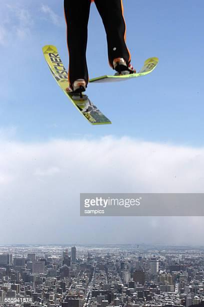 Feb 2007, Sapporo, Japan --- Nordic Combined ski jumping 2007 Nordic Ski World Championships in Sapporo, Japan.