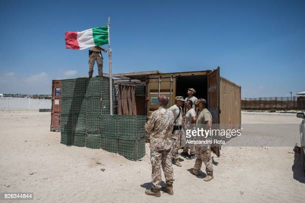 11 Feb 2015 Mogadishu Somalia Construction site of the new Itlaian Embassy inside MIA The are is protected by AMISOM forces