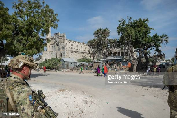 13 Feb 2015 Mogadishu Somalia Ruins of the Cathedral of Mogadischu Despite the city has been officially liberated by terrosist group AlShabab in 2011...
