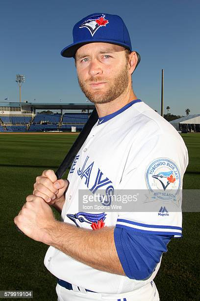 David Adams during the Blue Jays Photo Day workout at Florida Auto Exchange Stadium in Dunedin Florida