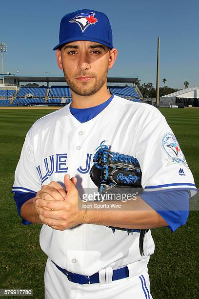 Pitcher Marco Estrada during the Blue Jays Photo Day workout at Florida Auto Exchange Stadium in Dunedin Florida