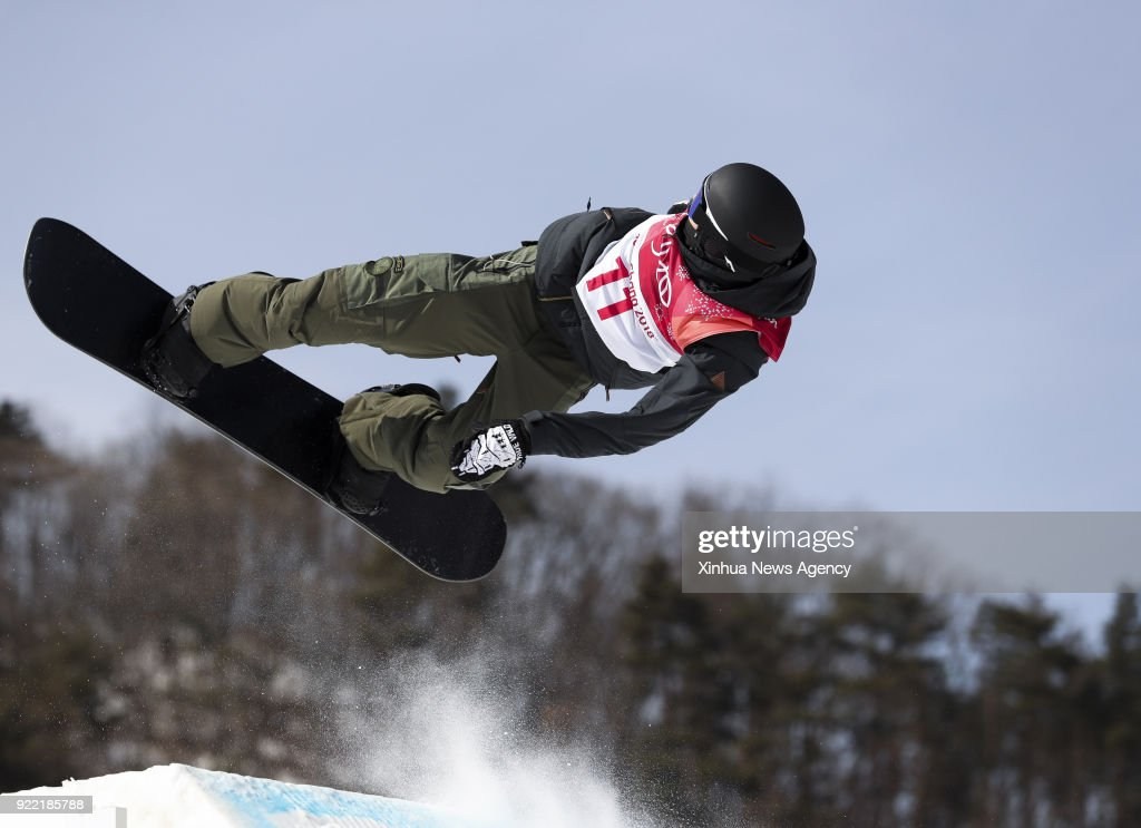 PYEONGCHANG, Feb. 21, 2018 -- Jonas Boesiger of Switzerland competes during men's snowboard big air qualification at the 2018 PyeongChang Winter Olympic Games at Alpensia Ski Jumping Centre, PyeongChang, South Korea, Feb. 21, 2018. Jonas Boesiger was qualified with 96.00 points.