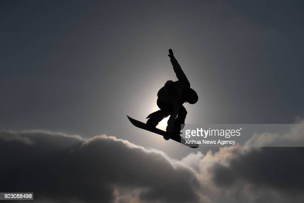 PYEONGCHANG Feb 22 2018 Yuka Fujimori of Japan competes during ladies' snowboard big air final at the 2018 PyeongChang Winter Olympic Games at...
