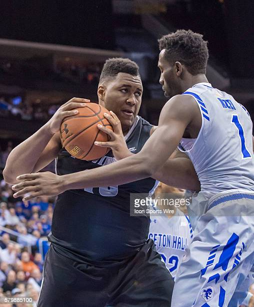Providence Friars forward Ben Bentil rebounds the ball during the first half of the NCAA Big East Conference game between Providence and Seton Hall...
