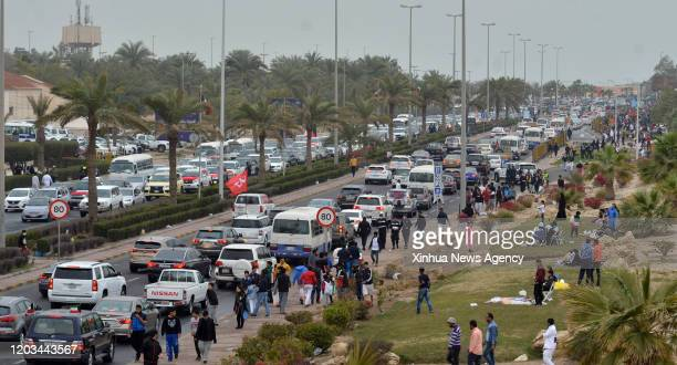 CITY Feb 25 2020 People celebrate the National Day in Kuwait City capital of Kuwait on Feb 25 2020 On Feb 25 and 26 every year Kuwait celebrates its...
