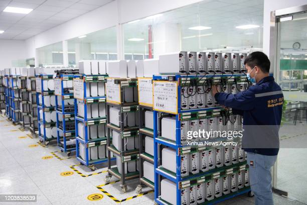 Feb. 27, 2020 -- A staff member works at a workshop of Hunan Comtom Electronic Co., Ltd in Changsha, central China's Hunan Province, Feb. 27, 2020....