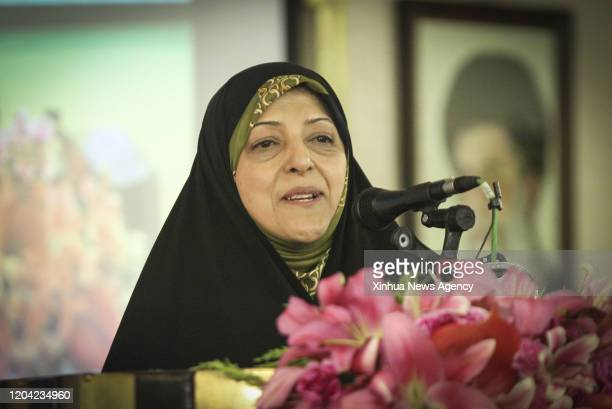 TEHRAN Feb 27 2020 This file photo taken on Feb 3 2016 shows Masoumeh Ebtekar attending an event in Isfahan Iran Iran's Vice President for Women and...