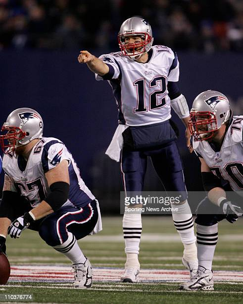 Feb 3 2008 NFL's 2008 SUPER BOWL LXII TOM BRADY leads the undefeated AFC Patriots into the Championship Game against the underdog NFC New York...