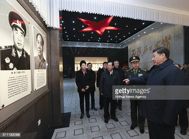 NANCHANG Feb 3 2016 Chinese President Xi Jinping front also general secretary of the Communist Party of China Central Committee and chairman of the...