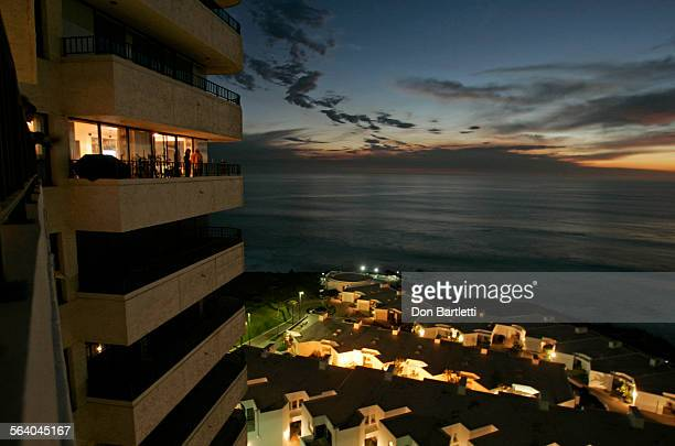 Feb 7, 2006. Rosarito Beach, Mexico. Residents on the 10th floor of the Calafia residential tower enjoy a spectacular view of the Pacific Ocean...