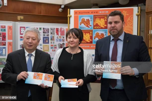 BUDAPEST Feb 7 2018 Chinese Ambassador to Hungary Duan Jielong Juhasz Edit Deputy State Secretary for the Ministry of National Development of Hungary...
