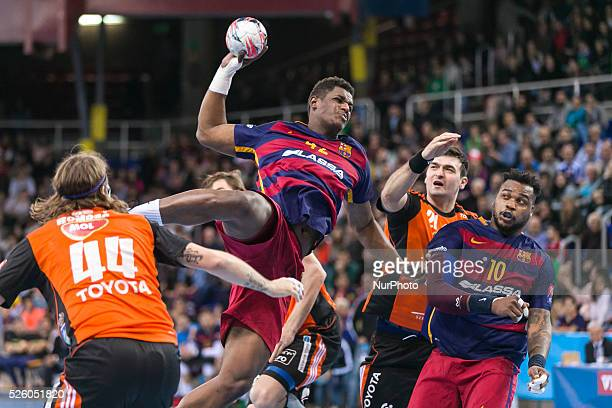 Wael Jallouz during the match between FC Barcelona vs Mol Pick Szeged for the round 12 of group B of the EHF cup played at Palau Blaugrana on 21th...