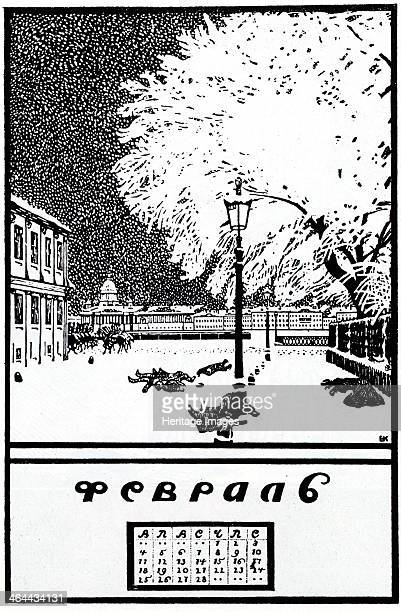 Februar 1907 Calendar of the Russian Revolution 1917 Found in the collection of the Russian State Library Moscow
