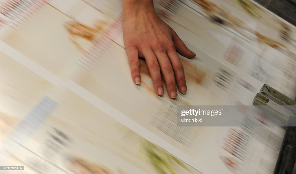 Printing house, printing machine, Germany -  Miesbach, 14. Februar 2012. : News Photo