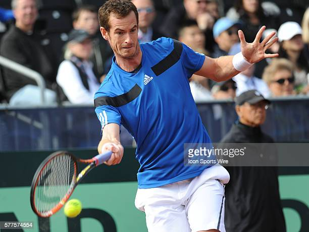 February 02 Andy Murray of Great Britain in action during the Davis Cup, Petco Park, San Diego, CA
