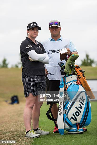 Casey Grice and her caddie during the second round of the Coates Golf Championship in Ocala FL