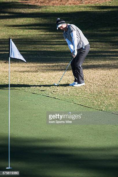 Angela Stanford chips onto the green on hole 17 during the second round of the Coates Golf Championship in Ocala FL