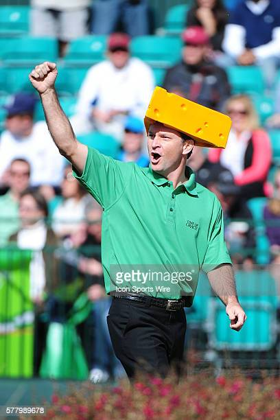 Mark Wilson shows his support of the Green Bay Packers on the 16th hole during round three of the Waste Management Phoenix Open at the TPC Stadium...
