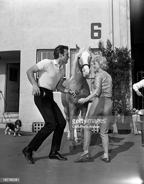 February 1 1962 MISTER ED Donna Douglas and Clint Eastwood in 'Clint Eastwood Meets Mr Ed'