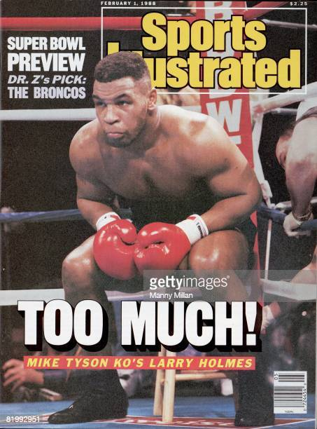 February 1, 1988 Sports Illustrated via Getty Images Cover: Boxing: WBC/WBA/IBF Heavyweight Title: Mike Tyson in corner during fight vs Larry Holmes...