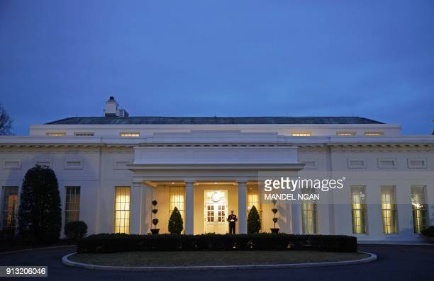 A February 1 2018 photo shows the West Wing of the White House in Washington DC / AFP PHOTO / MANDEL NGAN
