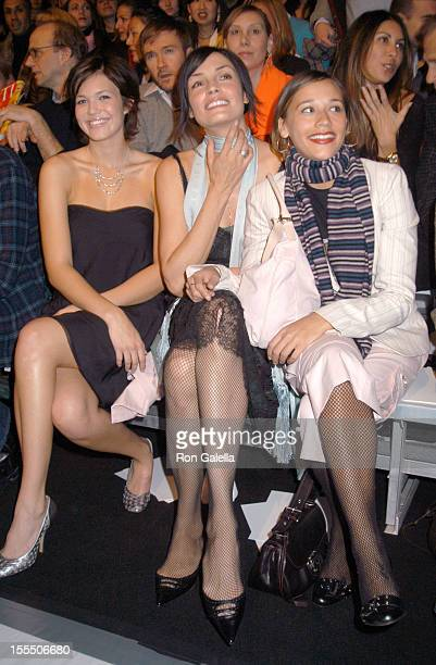 February 10 2003 New York City New York New York State Armory Mercedes Benz Fashion Week Fall 2003 Collections Marc Jacobs Front Row and Backstage...