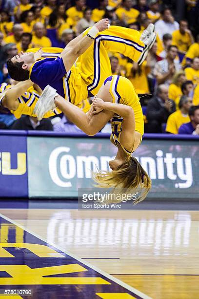 Kentucky Wildcats at LSU Tigers The LSU Tigers cheerleaders entertain the crowd during a game in Baton Rouge Louisiana