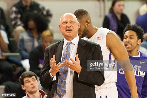 February 10 2016 East Carolina Head Coach Jeff Lebo in a game between the East Carolina Pirates and the Tulane Green Wave at Willliams Arena Minges...