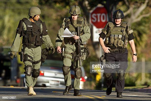WHITTIER CA February 11 2010 Whittier police SWAT surrounded the home seeking a possible suspect where a woman was fatally shot today at a residence...